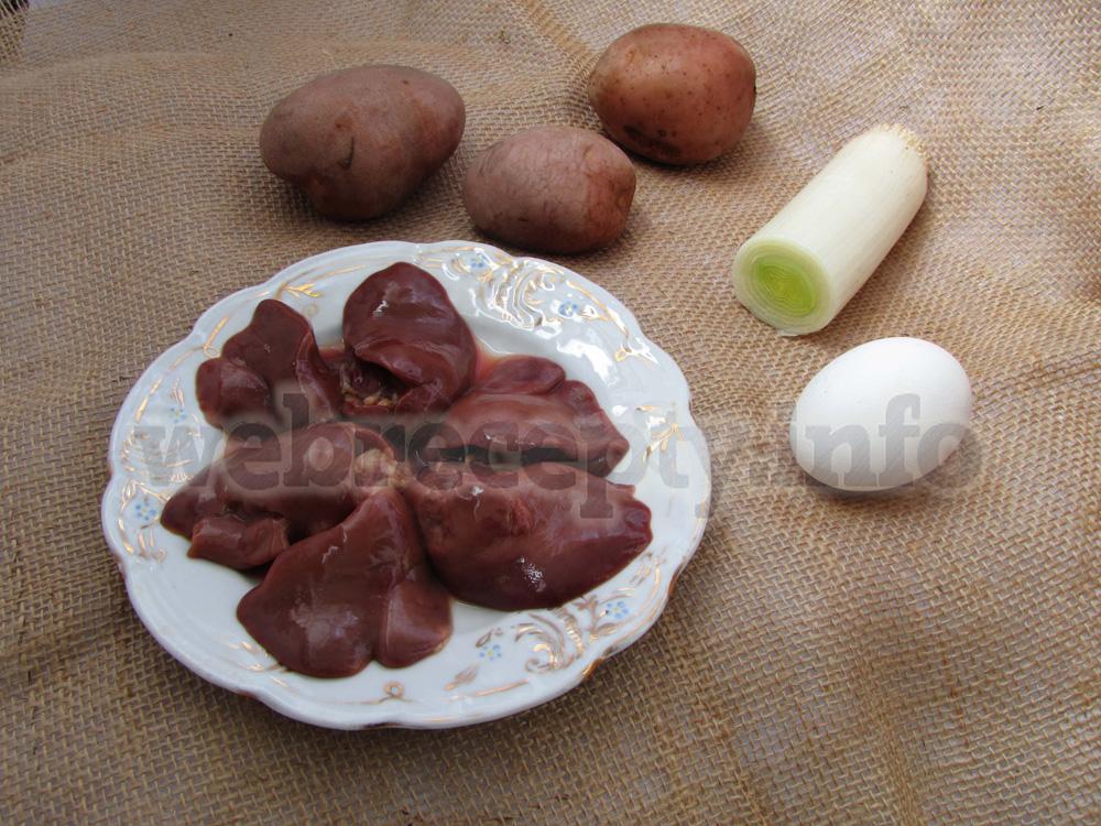 Картофельные котлеты с куриной печенью
