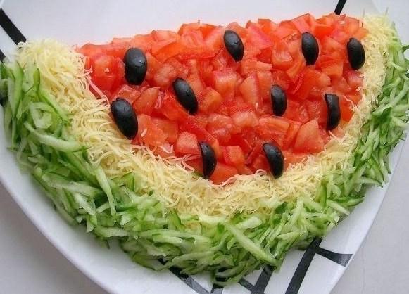 Салат арбузная корка рецепт