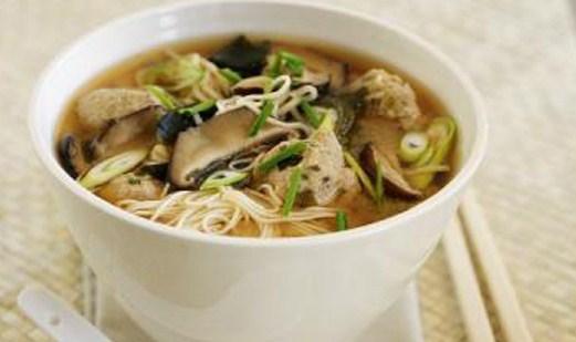 Простой суп из шампиньонов