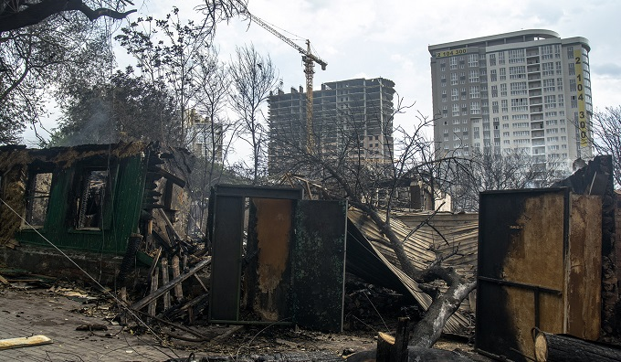 Говнярка после пожара
