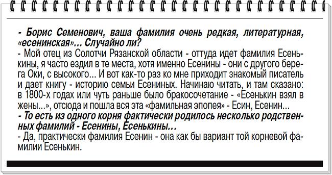 Борис Есенькин: «Без культурного наследия человек теряет себя»