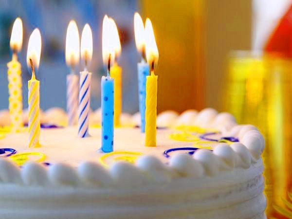 Праздничные свечи для торта