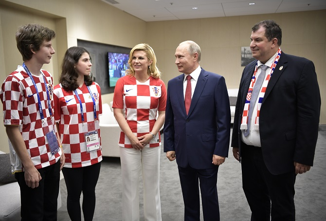 Президент из фан-зоны Колинда Грабар-Китарович