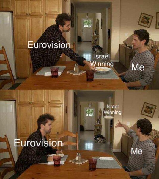«На помойку их победу»: Мем про первенство Израиля на Евровидении «рвет» сети