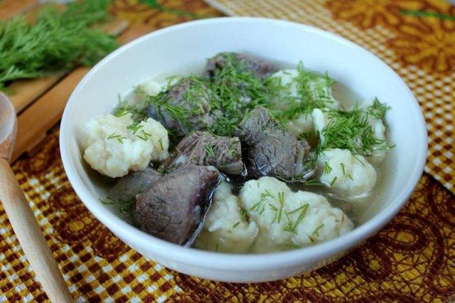 Какой суп сварить на говяжьем бульоне