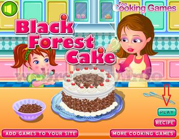 Кулинарная игра «черный шоколадный торт»