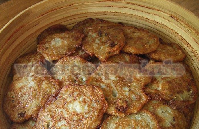 Драники с курицей картофельные