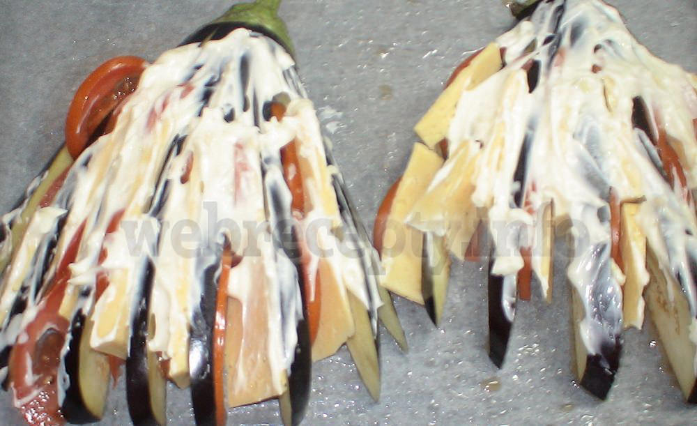 Баклажаны веером рецепт