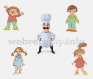 Дети готовят сами печение