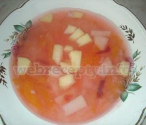 Фруктовый суп рецепт
