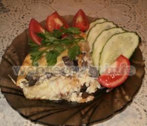Рыба запеченная с грибами рецепт