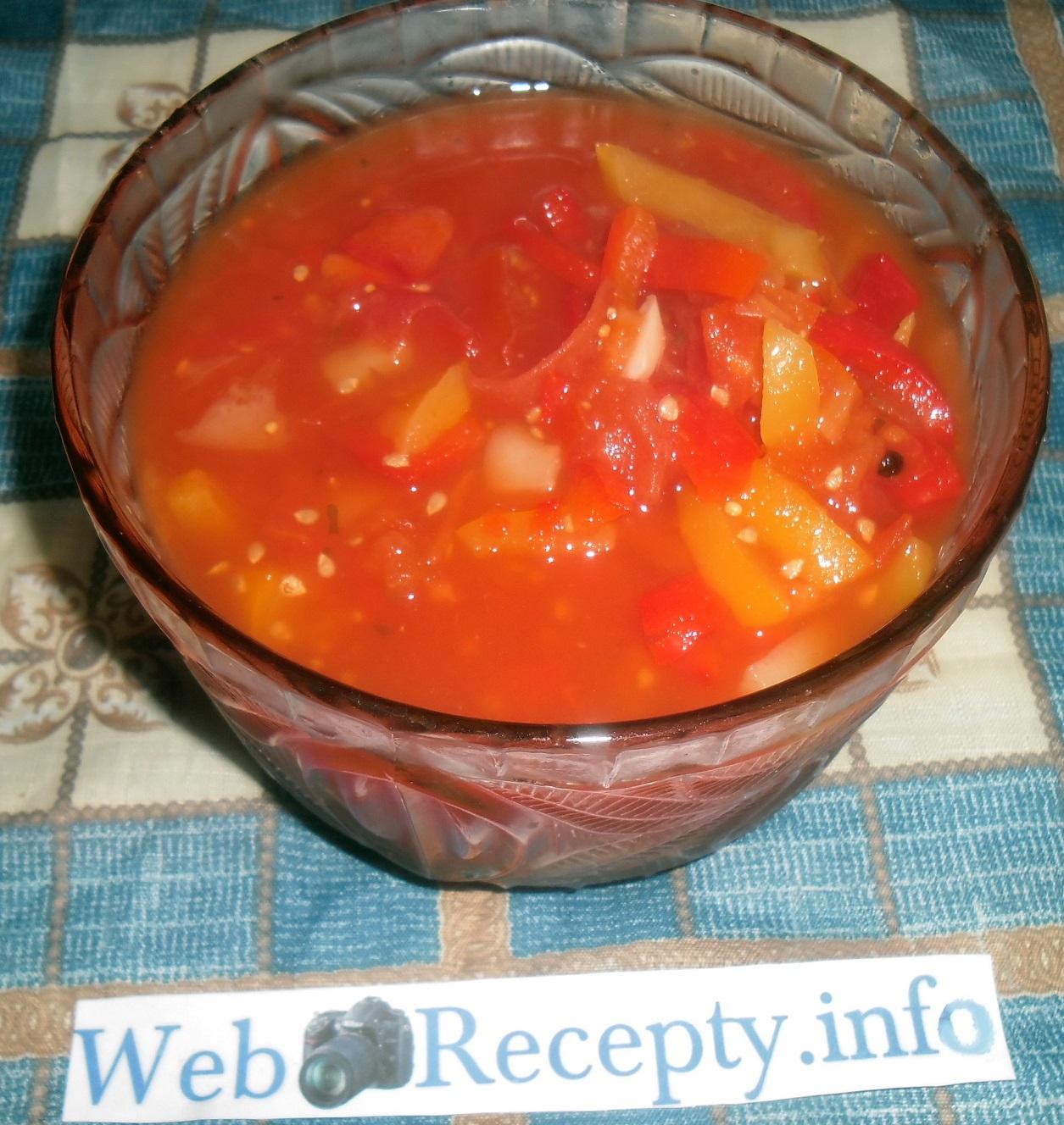 Маринованный перец с помидорами