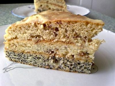 Торт с грецкими орехами рецепт