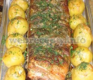 Копченая свинина с картошкой