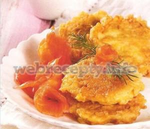 Оладьи картофельные с лососем