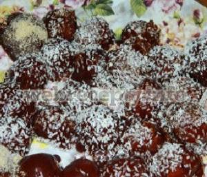 Песочное печенье в шоколадной глазури