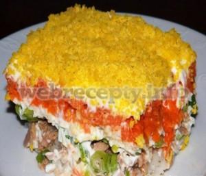 Салат из трески с болгарским перцем
