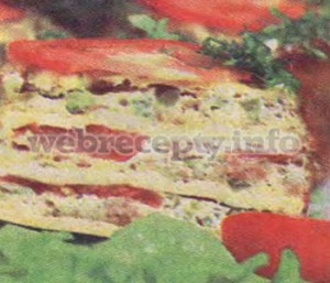 Слоенный мясной тортик