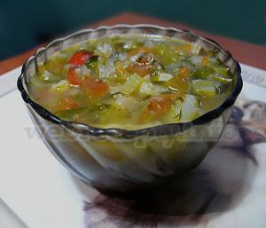 Суп с фасолью (постный)